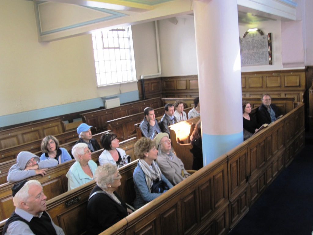 Inside Nelson Street synagogue with Sutton & District synagogue