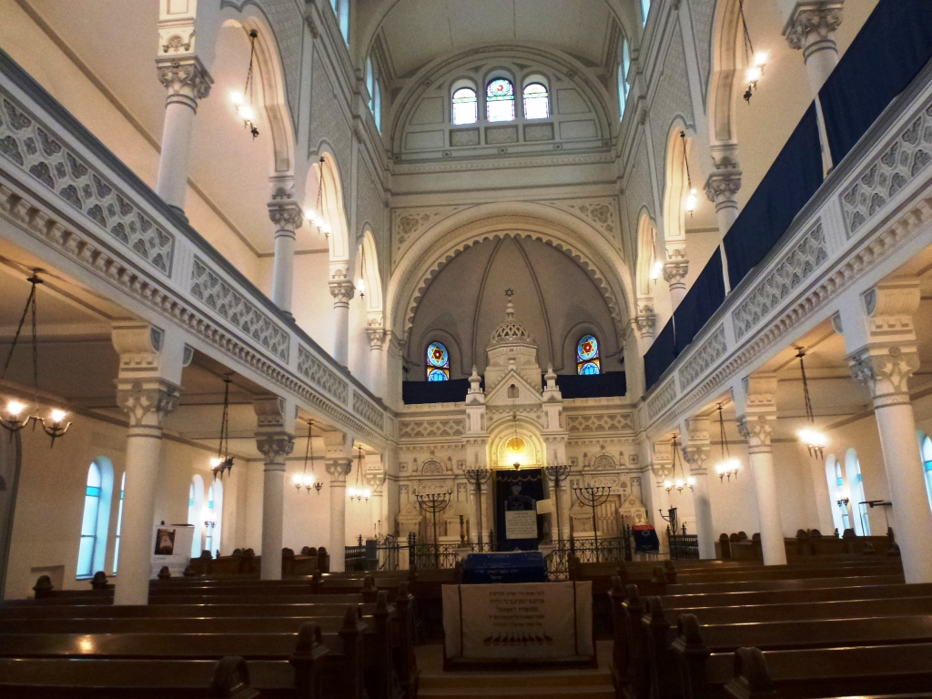 Beautiful interior of Brasov's functioning synagogue