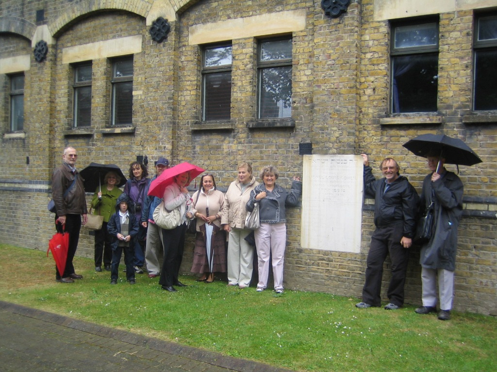 Outside the former East London synagogue, Rectory Square, Stepney