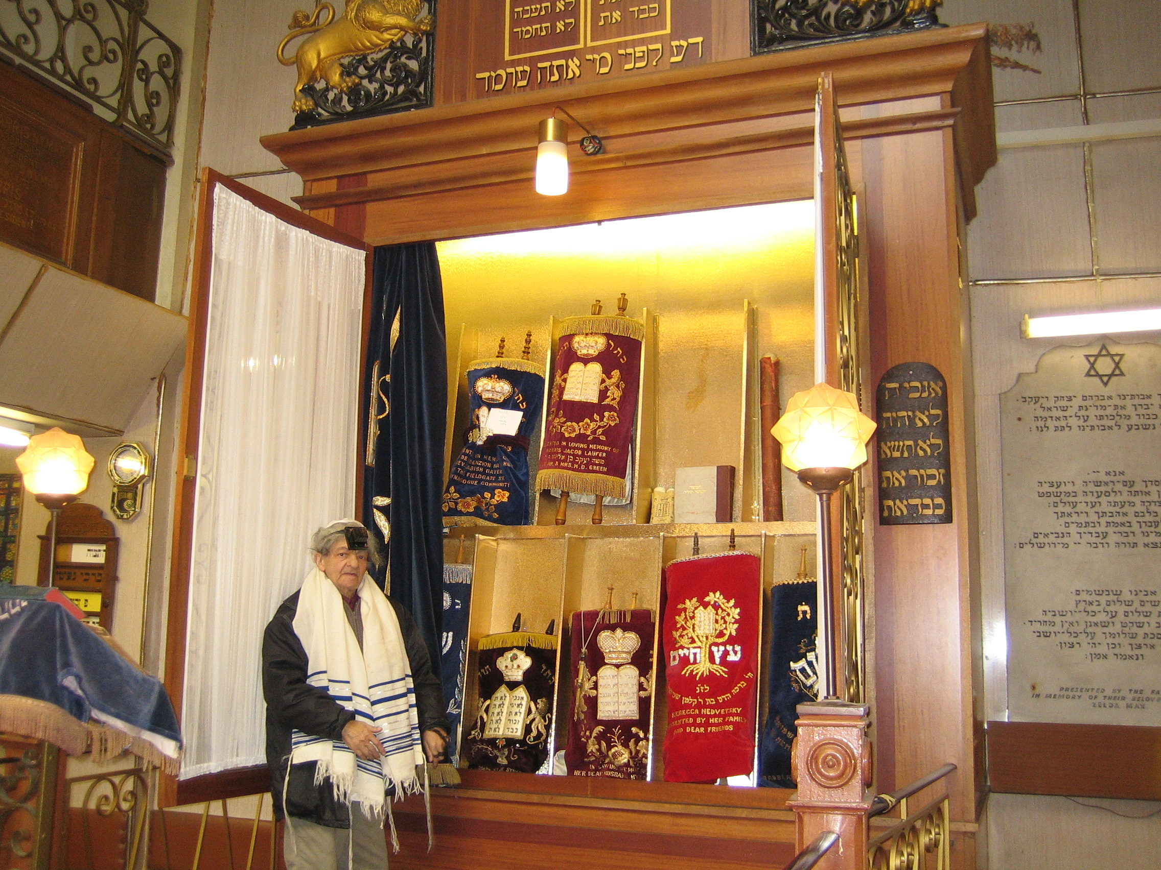 Open Ark at Fieldgate Street synagogue