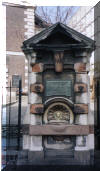 Drinking fountain outside St Botolph's church, Aldgate dedicated to Frederic David Mocatta (1828-1905) - Bullion broker and philanthropist