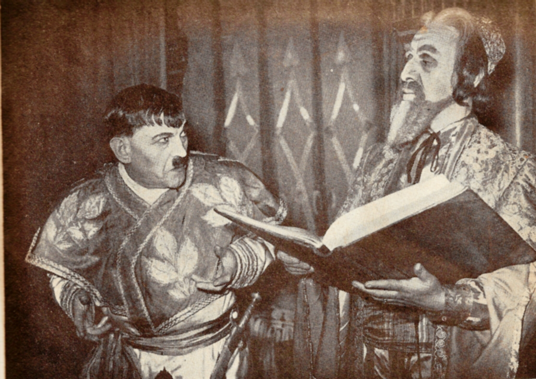 Sulamith - Meier Tzelniker with Joseph Sherman (Haman) made up to look like Hitler
