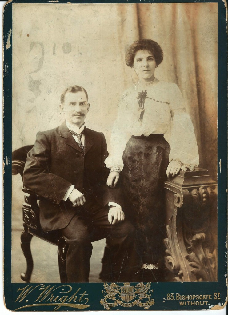 Valerie's grandmother and grandfather: Abraham Pollock (originally  Poliachek) from Belarus, and his wife Bertha Pollock, born Berthe Schulman
